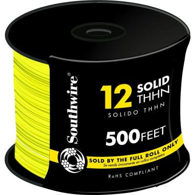 500 ft. 12/1 Solid THHN Wire - Yellow