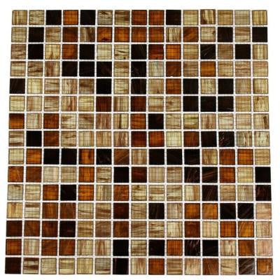 Lima Bean 13 in. x 13 in. x 4 mm Stained Glass Mosaic Floor and Wall Tile