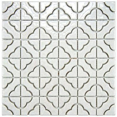 Palace White 11-3/4 in. x 11-3/4 in. x 5 mm Porcelain Mosaic Floor and Wall Tile