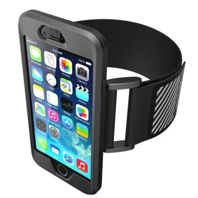 Sport Armband and Flexible Case for Apple iPhone 6 Plus and 6S Plus - Black