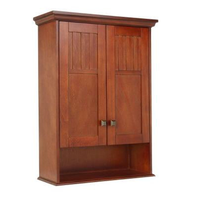 Knoxville 22 in. W Wall Cabinet in Nutmeg