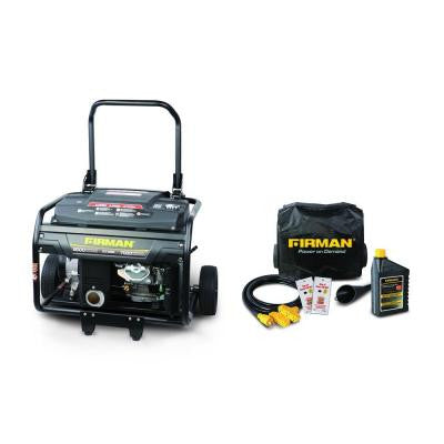 9000-Watt Gasoline Powered Electric Start Portable Generator and Combo Kit