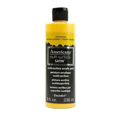Americana 8 oz. School Bus Satin Multi-Surface Acrylic Paint