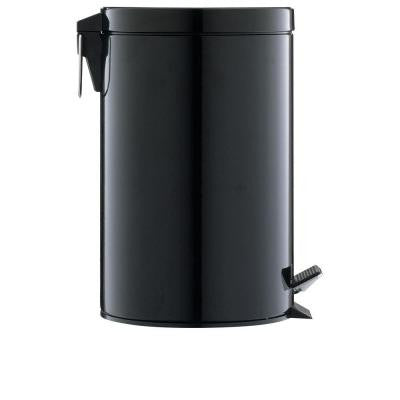 3.13 gal. Black Step-On Touchless Trash Can