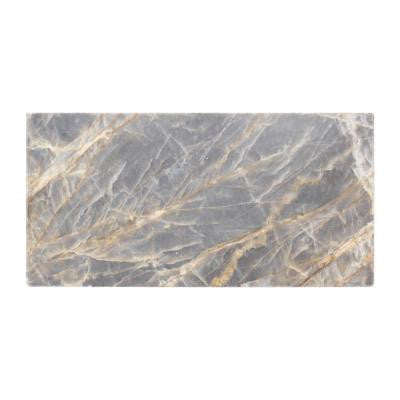 Academy Grey 3 in. x 6 in. Marble Wall Tile (8-Pack)