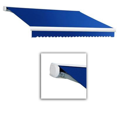 18 ft. Key West Manual Retractable Acrylic Fabric Awning (120 in. Projection) in Bright Blue