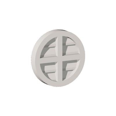29-7/8 in. x 29-7/8 in. x 2-1/4 in. Polyurethane Functional Round Louver Gable Vent with Cross