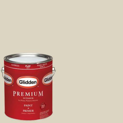 1-gal. #HDGWN62U Soft Herbal Sage Flat Latex Interior Paint with Primer