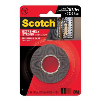 Scotch 1 in. x 1.66 yds. Extreme Mounting Tape (Case of 12)