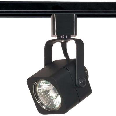 1-Light MR16 120-Volt Square Black Track Lighting Head