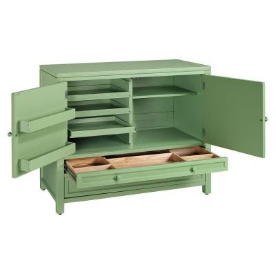 42 in. W Rhododendron Leaf Craft Space Storage Cabinet