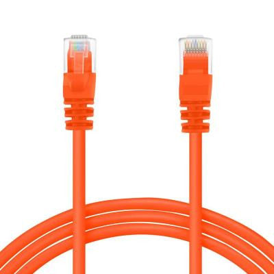 0.5 ft. Cat5e RJ45 Snagless Ethernet Computer LAN Network Patch Cable - Orange (20-Pack)