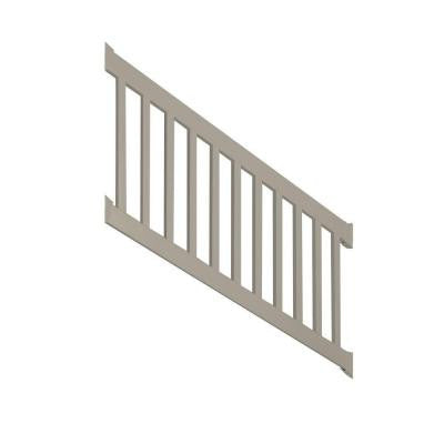 Walton 3 ft. x 96 in. Vinyl Khaki Stair Railing Kit