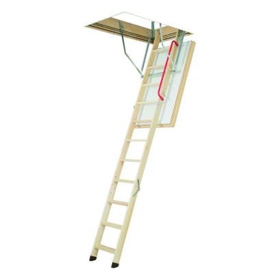 7 ft. 5 in. - 8 ft. 11 in., 22-1/2 in. x 47 in. Super-Thermo Insulated Wooden Attic Ladder with 300 lb. Load Capacity