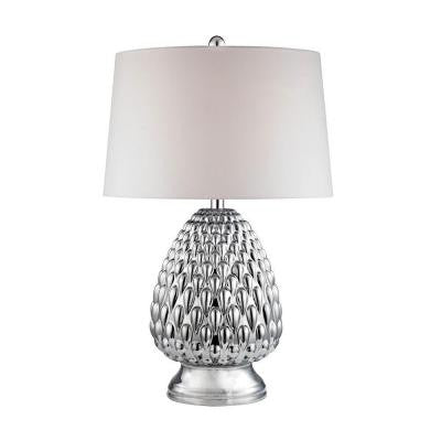 Orly 27 in. Chrome Plating Table Lamp with Shade