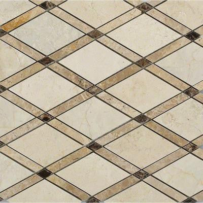 Grand Crema Marfil Polished Marble Tile - 3 in. x 6 in. Tile Sample