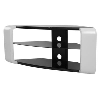 Floor Stand for 55 in. Flat Panel TVs - Gloss White