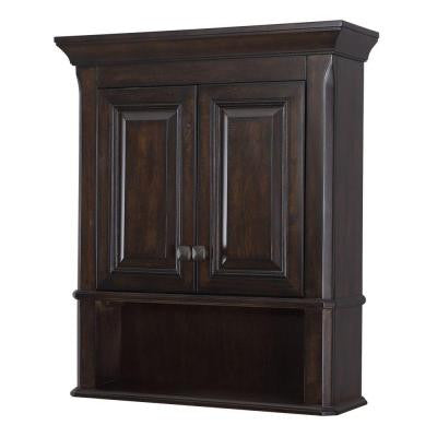 Moorpark 24 in. W x 28 in. H Wall Cabinet in Burnished Walnut