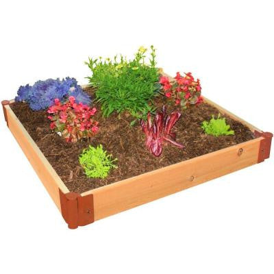 One Inch Series 4 ft. x 4 ft. x 6 in. Cedar Raised Garden Bed Kit