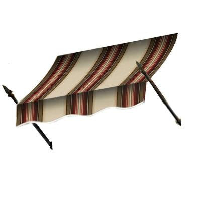 12 ft. New Orleans Awning (56 in. H x 32 in. D) in Black/Tan Stripe