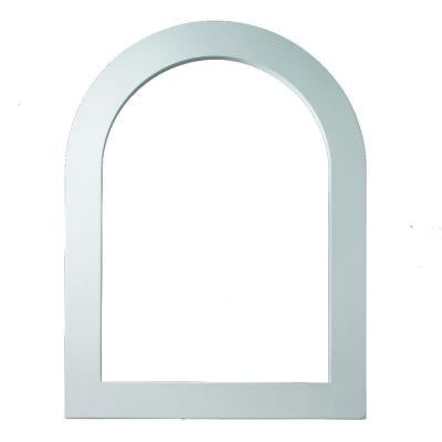 25-1/8 in. x 61-1/8 in. x 1 in. Polyurethane Flat Trim for Cathedral Louver Gable Vent
