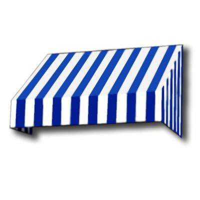 35 ft. New Yorker Window/Entry Awning (58 in. H x 36 in. D) in Bright Blue/White Stripe