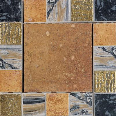 Terra Antica Rosso 6 in. x 6 in. Porcelain Decorative Corner/Insert Accent Floor and Wall Tile