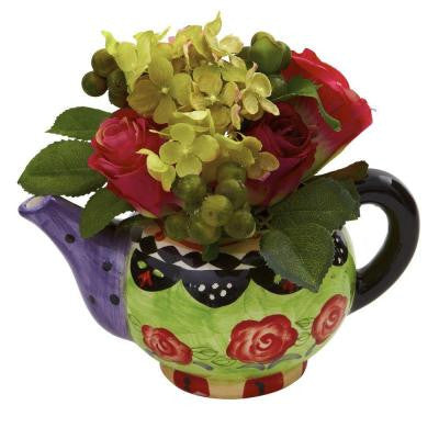 Rose and Hydrangea with Decorative vase