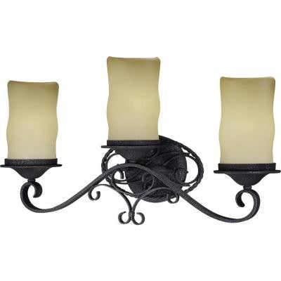 Sevilla 3-Light Antique Iron Bath and Vanity Light