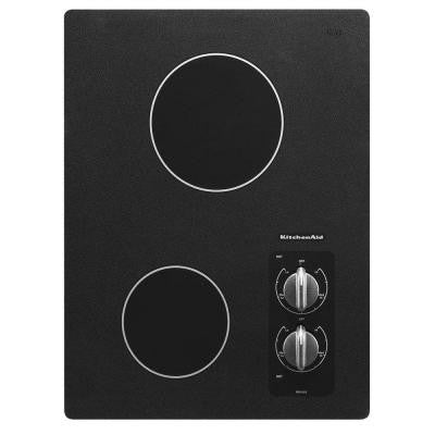 Architect Series II 15 in. Ceramic Glass Electric Cooktop in Black with 2 Elements