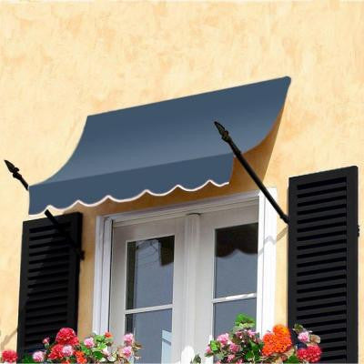 12 ft. New Orleans Awning (44 in. H x 24 in. D) in Dusty Blue