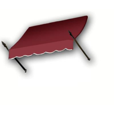 20 ft. New Orleans Awning (44 in. H x 24 in. D) in Burgundy
