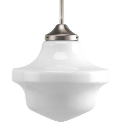 Schoolhouse Collection 1-Light Brushed Nickel Pendant