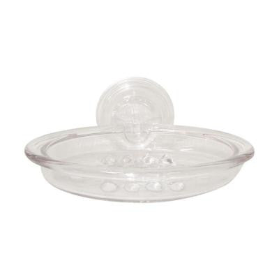 PowerLock Suction Soap Dish in Clear