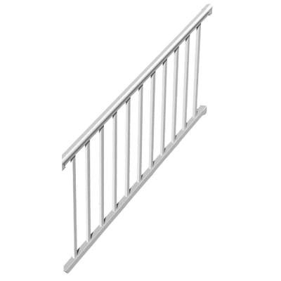 6 ft. x 36 in. 32-Degree to 38-Degree Vinyl Titan Pro Stair Rail Kit with 1-1/4 in. Square Balusters