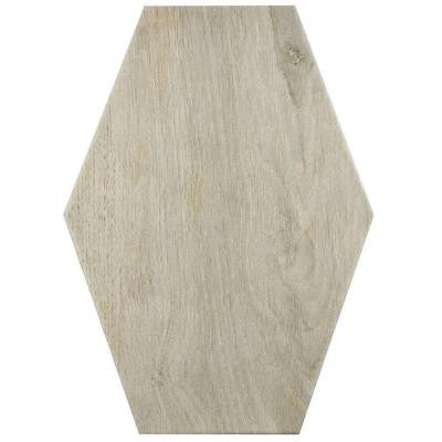 Timber Hex Irr Tilo 8-3/8 in. x 11-3/4 in. Porcelain Floor and Wall Tile (10.76 sq. ft. / case)