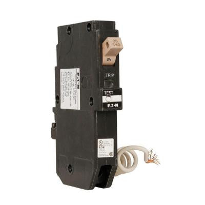20-Amp 3/4 in. CH Type Breaker Single Pole Ground Fault Circuit Breaker with Flag