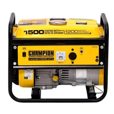 1,200/1,500-Watt Recoil Start Gasoline Powered Portable Generator