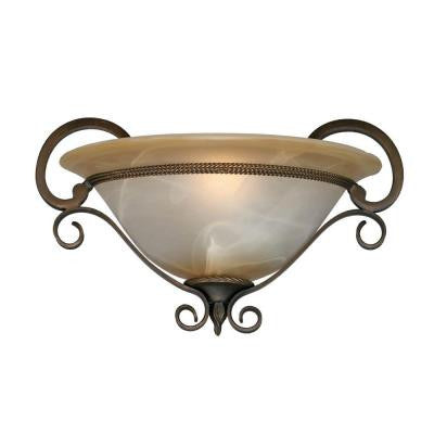 Padma Collection 1-Light Golden Bronze Sconce