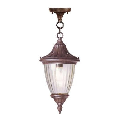 Providence 1-Light Outdoor Imperial Bronze Incandescent Pendant