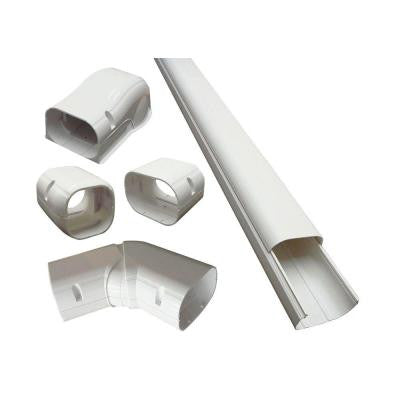3 in. x 14 ft. Cover Kit for Air Conditioner and Heat Pump Line Sets - Ductless Mini Split or Central
