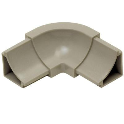 Dilex-HKW Grey 1 in. x 2 in. PVC 3-Way Inside Corner