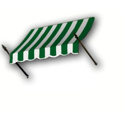 8 ft. New Orleans Awning (56 in. H x 32 in. D) in Forest / White Stripe