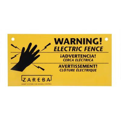 Electric Fence Warning Sign (3-Pack)