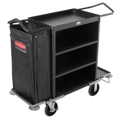 Executive Series Deluxe 3-Shelf High Capacity Housekeeping Cart