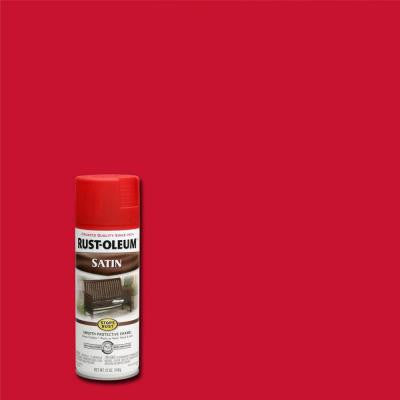 12 oz. Protective Enamel Satin American Red Spray Paint (Case of 6)