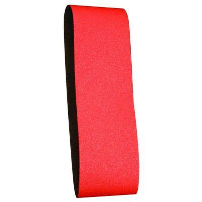 4 in. x 24 in. 120-Grit Sanding Belt (2-Pack)