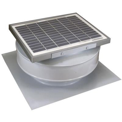 365 CFM White Powder Coated 5 Watt Solar Powered Roof Mounted Exhaust Attic Fan