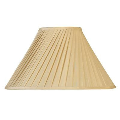 Beige Round Swirl Pleat Single Replacement Lamp Shade