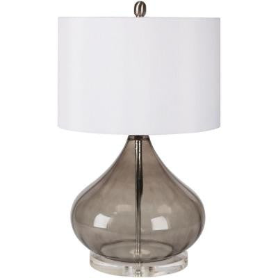 Ridgway 24.5 in. Transparent Smoke Indoor Table Lamp